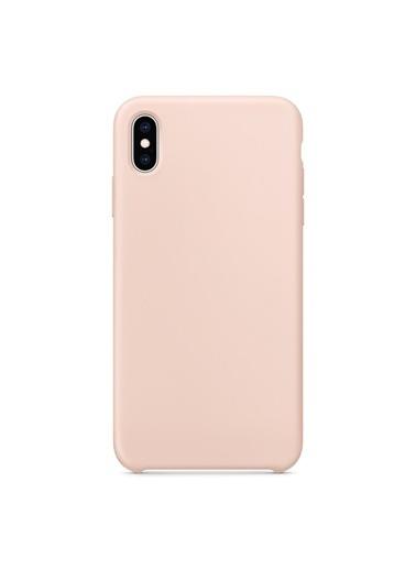 Bludfire Apple iPhone XS Kılıf Liquid Lansman Silikon Kum Pembesi Pudra